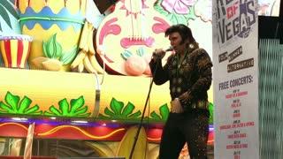 Elvis concert on Fremont Street Las Vegas