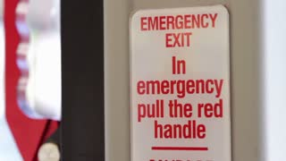 Emergency lever in bus