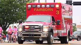 Emergency vehicle for Fairborn Fire Department in parade 4k