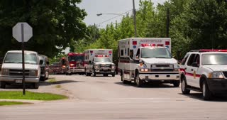 Emergency Vehicles in Fayetteville Firemans Parade 2014 4k