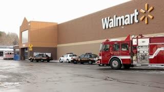 Emergency vehicles in front of Walmart in logan ohio