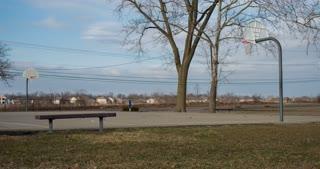 Empty basketball court 4k
