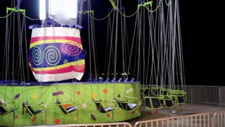 Empty swing ride at Carnival