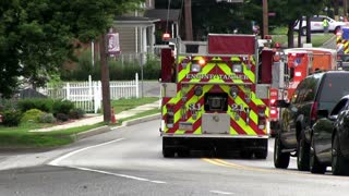 End of Parade with Emergency Vehicles in Everett PA
