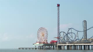 End of Pleasure Pier with Ferris Wheel