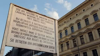 Entrance of American Sector at Checkpoint Charlie
