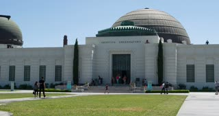 Entrance of Griffith Observatory in Hollywood California 4k