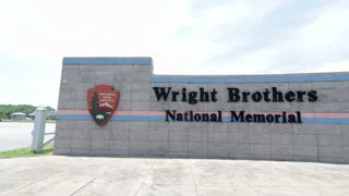 Entrance sign to Wright Brothers National Memorial