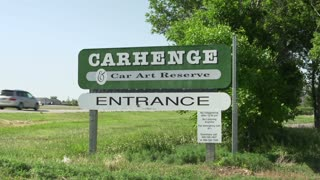 Entrance to Carhenge in Alliance Nebraska