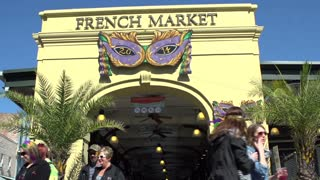 Entrance to French Market in New Orleans