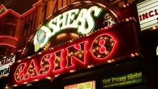 Entrance to Osheas Casino in Las Vegas