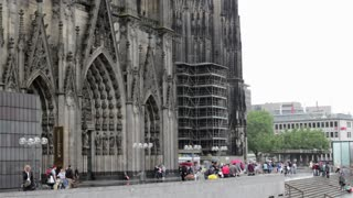 Entrance to the Cologne Cathedral in Germany