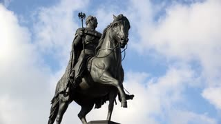 Equestrian Statue of Friedrich Wilhelm III in Cologne Germany 4k