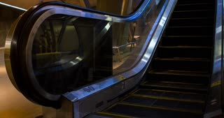 Escalator going upwards from subway stop 4k