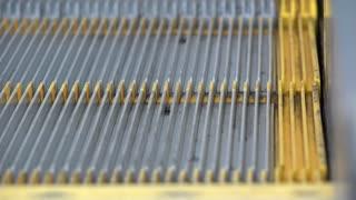Escalator steps close up view 4k