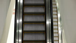 Escalator steps going down