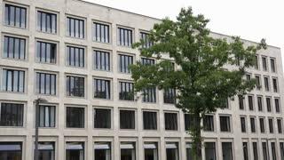Establishing shot of office or school building 4k