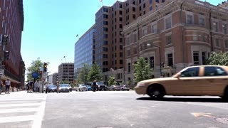 Establishing Shot of Washington DC intersection 4k