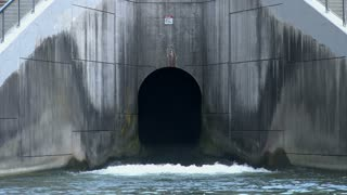 Exit at the bottom of a Dam