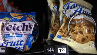 Famous Amos cookies purchased from vending machine