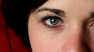 Female on Eye close up