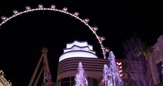 Ferris Wheel attraction High Roller in Vegas 4k