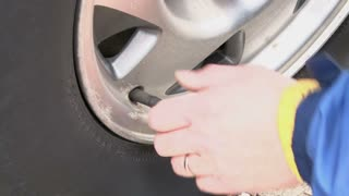 Filling Car Tire with Air