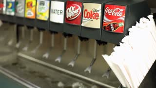 Filling Cup at Coca-Cola Fountain Machine