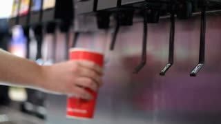 Filling Fountain Drink with Soda