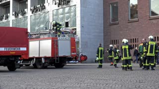 Fire Department in Cologne Germany training 4k