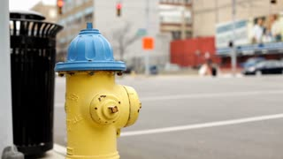 Fire hydrant at intersection during day