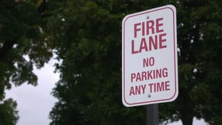 Fire Lane no parking any time sign 4k