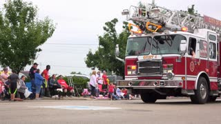 Fire truck in Fairborn Ohio 2016 parade 4k