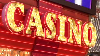 Flashing CASINO sign at entrance
