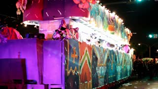 Float in Endymion Parade Stopped