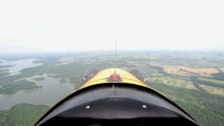 Flying an airplane first person point of view