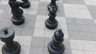 Flying around oversized chess pieces steadycam