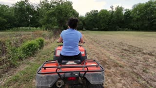 Following female on four wheeler
