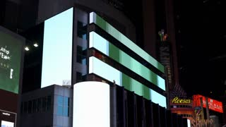 Foreign Exchange Morgan Stanley stock ticker in Times Square NYC 4k