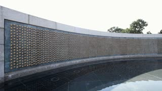 Freedom wall at WWII memorial