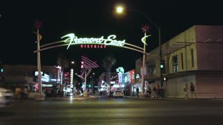 Fremont East District in downtown Vegas