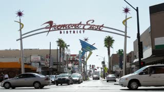 Fremont East district sign at intersection