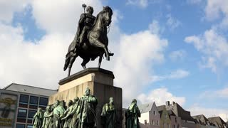 Friedrich Wilhelm III in Cologne Germany 4k