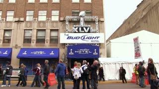 Front of Super Bowl XLVI Bud Light hotel
