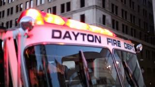 Front window of Dayton Fire Truck
