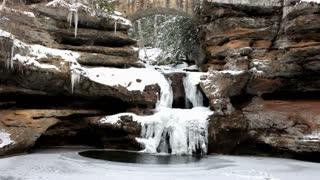 Frozen Waterfall at Hocking Hills Ohio