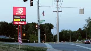 Gas sign price error at Speedway