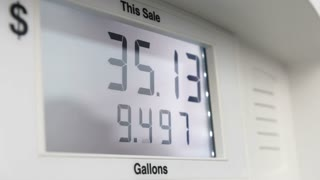 Gas station digital read out at pump
