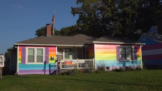 Gay pride house across from Westboro Baptist Church Topeka Kansas 4k