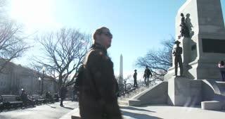 General Sherman Equestrian Civil War memorial in Washington DC 4k